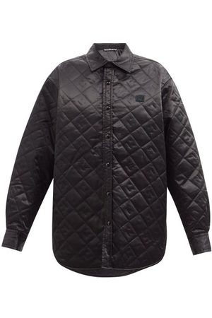 Acne Studios Face-quilted Satin Shirt Jacket - Womens