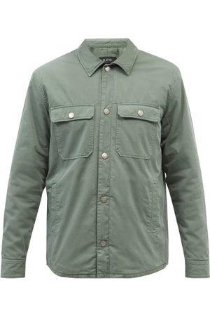 A.P.C. Alex Patch-pocket Cotton-twill Overshirt - Mens - Khaki
