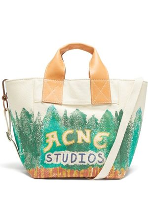 Acne Studios Alisse Logo-print Cotton-canvas Tote Bag - Womens - Multi