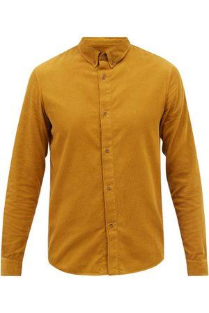 A.P.C. Buttondown-collar Cotton-needlecord Shirt - Mens - Dark