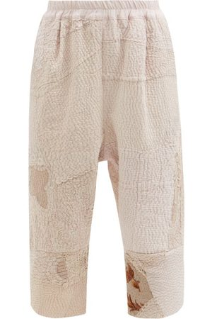 BY WALID Alain Cropped Patchwork Vintage-cotton Trousers - Womens - Multi