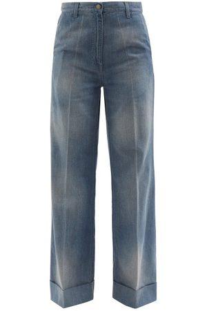 Gucci High-rise Wide-leg Jeans - Womens - Denim