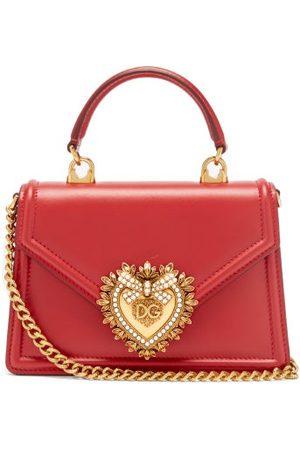 Dolce & Gabbana Women Purses - Devotion Leather Shoulder Bag - Womens - Dark
