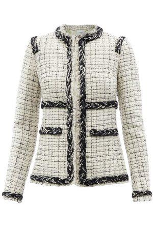 Giambattista Valli Braided-trim Checked Bouclé Jacket - Womens