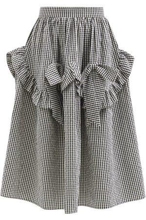 Shrimps Hazel Ruffled Gingham Cotton-blend Midi Skirt - Womens