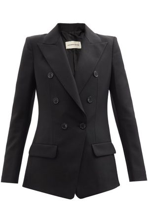ALEXANDRE VAUTHIER Women Blazers - Double-breasted Wool-canvas Suit Jacket - Womens