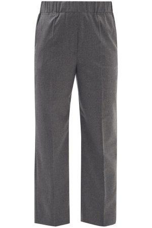 Max Mara Egizio Trousers - Womens - Dark Grey