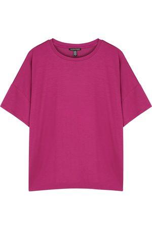 EILEEN FISHER Raspberry stretch-jersey T-shirt