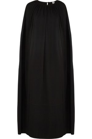 Totême Women Casual Dresses - Cape-effect jersey maxi dress