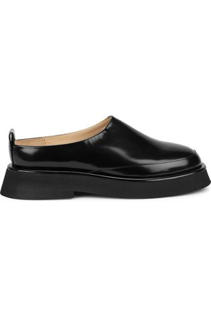 Wandler Rosa glossed leather backless loafers