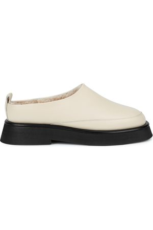 Wandler Women Loafers - Rosa shearling-lined leather backless loafers