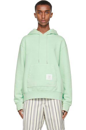 Thom Browne Green Garment-Dyed Loopback Hoodie