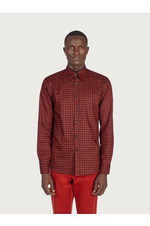 Salvatore Ferragamo Men Long sleeves - Men Long sleeved sporty shirt