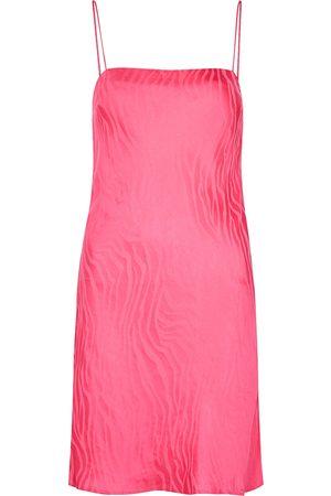 ROTATE Birger Christensen Line zebra-jacquard satin mini dress