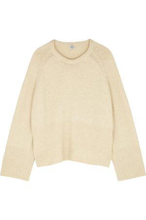 Totême Camel wool-blend jumper