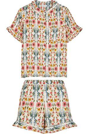 YOLKE Thebe floral-print linen pyjama set