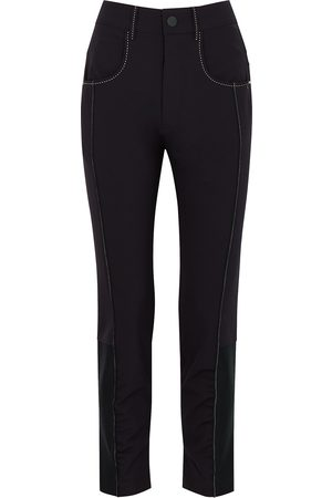 HIGH Proximity navy slim-leg trousers