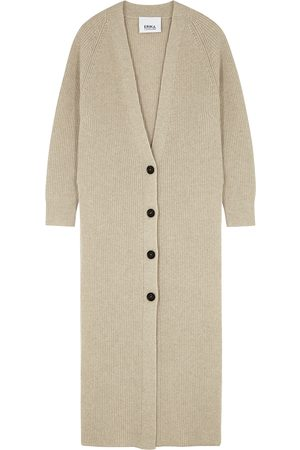 ERIKA CAVALLINI Stone longline wool-blend cardigan