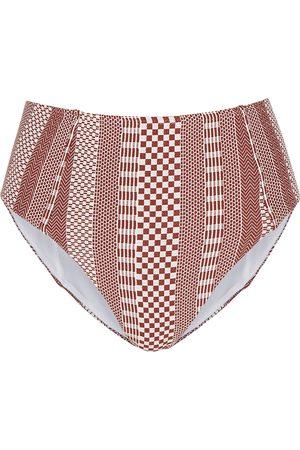 Veronica Beard Women Bikinis - Jenkin geometric high-rise bikini briefs
