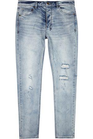 KSUBI Chitch light distressed slim-leg jeans