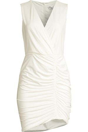 Black Halo Oakley Ruched Sleeveless Dress