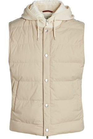 Brunello Cucinelli Drawstring Hood Puffer Vest