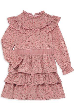 Imoga Little Girl's Ruffle Floral-Print Dress