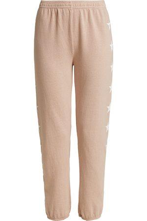 MONROW Star High-Waisted Sweatpants