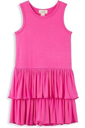 Peek & Beau Girls Tiered Knit Dress