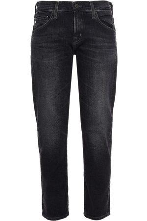 AG Jeans Women Boyfriend Jeans - Woman Cropped Boyfriend Jeans Charcoal Size 23