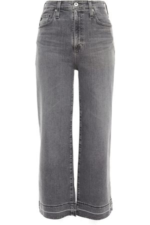 AG Jeans Woman Cropped High-rise Wide-leg Jeans Size 23