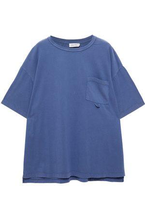 American Vintage Women Short Sleeve - Woman Rompool Oversized Organic Cotton-jersey T-shirt Slate Size ONESIZE