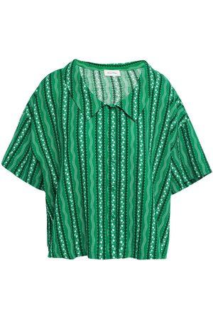 American Vintage Woman Epifun Printed Cotton And Linen-blend Shirt Size L