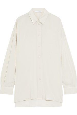 IRO Woman Mix Voile Shirt Ecru Size 38