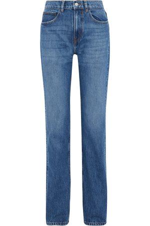 IRO Woman Slate High-rise Straight-leg Jeans Mid Denim Size 27