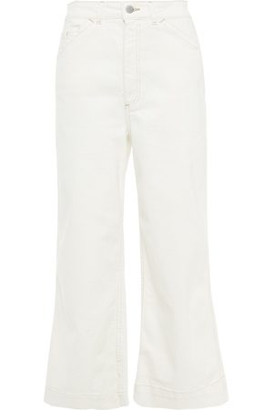 AG Jeans Woman Rosie Cropped High-rise Wide-leg Jeans Off- Size 23