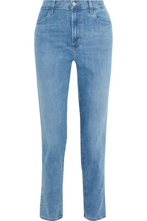 J Brand Woman Mia High-rise Tapered Jeans Mid Denim Size 24