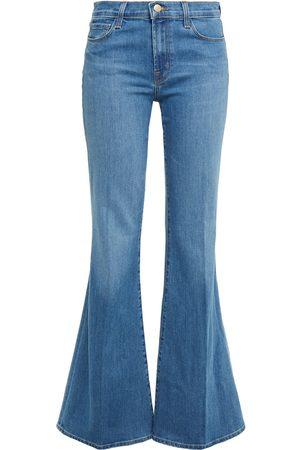 J Brand Woman Valentina High-rise Flared Jeans Mid Denim Size 25