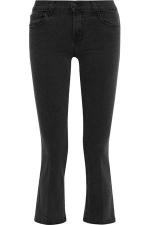 J Brand Women Bootcut - Woman Selena Mid-rise Kick-flare Jeans Charcoal Size 23