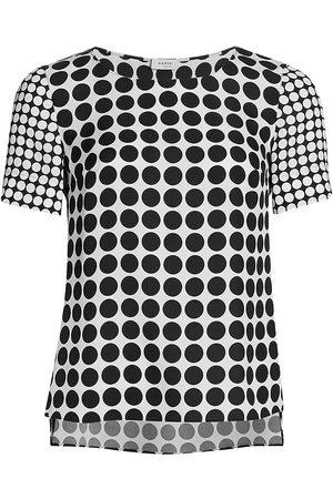 AKRIS Polka Dot Short-Sleeve Blouse