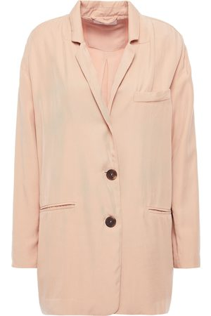 AMERICAN VINTAGE Woman Nalastate Lyocell-twill Blazer Blush Size L