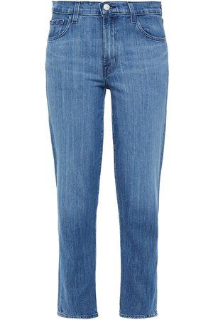 J Brand Woman Adele Faded Mid-rise Slim-leg Jeans Mid Denim Size 24