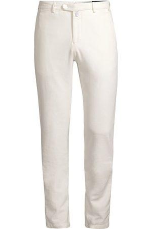 Kiton Cotton Cashmere Flat Front Pants