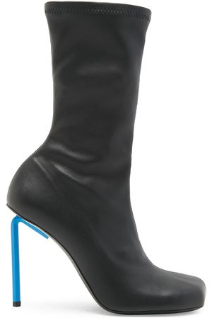 Off-White Allen Leather High-Heel Boots