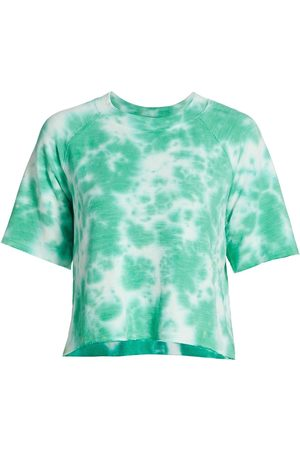 MONROW Black Out Tie-Dyed Cutoff T-Shirt