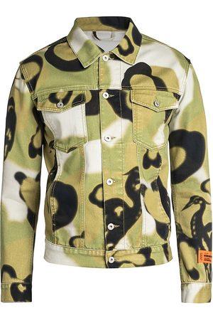 Heron Preston Abstract Camouflage Denim Jacket