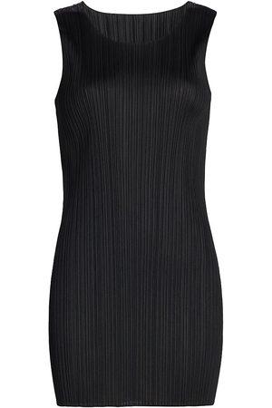 PLEATS PLEASE ISSEY MIYAKE Sleeveless Pleated Mini-Dress
