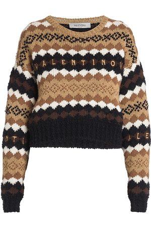 VALENTINO Embroidered Logo Pullover Sweater