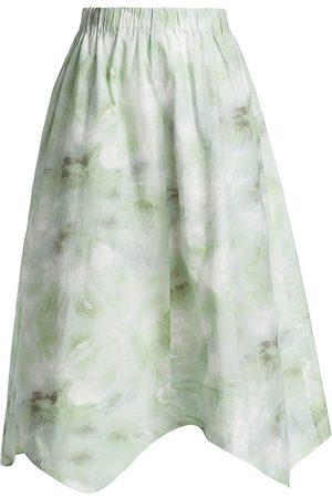 Ganni Tie-Dye Poplin Skirt