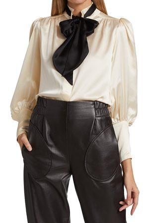 Anna Mason Colette Silk Bow Blouse